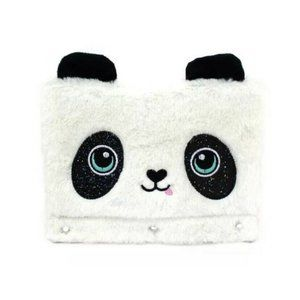 Fuzzy & Glitter Panda Pencil Case Pouch